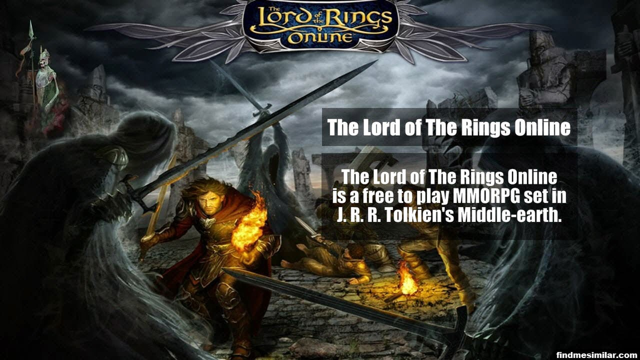 The Lord of The Rings Online a similar game like RuneScape