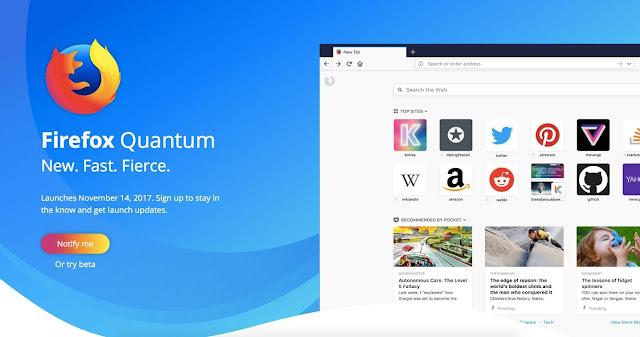 تحميل اخر اصدار من متصفح Firefox Quantum