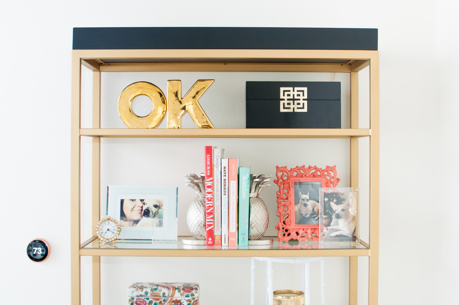 Chic ideas and tips for styling a bookcase or etagere.