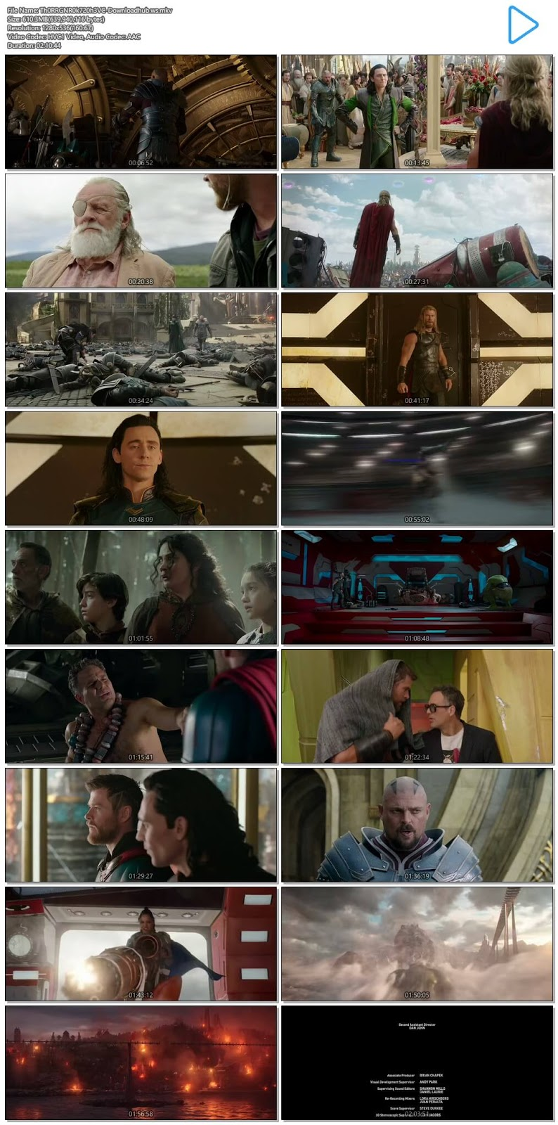 Thor Ragnarok 2017 Hindi Dual Audio 720p HEVC Web-DL Download