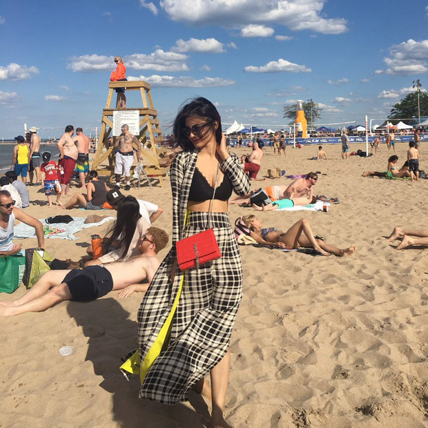 Mouni Flaunted Her Black Bikini Top in Style
