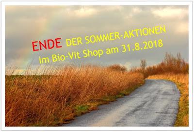?Nur noch 2 Tage sind unsere Aktionen im Bio-Vit Shop erhältlich!