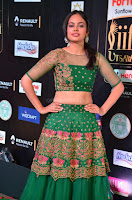 Nandita Swetha in a tight Green Choli Ghagra at IIFA Utsavam Awards March 2017 ~ 042.JPG