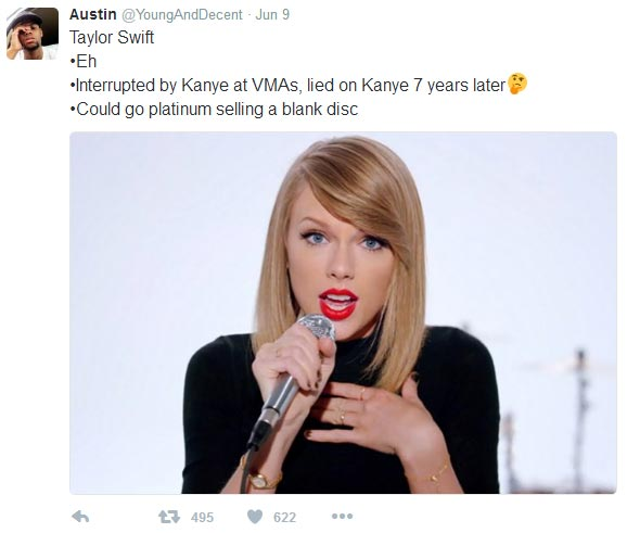 Twitter user accurately describes Beyonce, Kanye West, Taylor Swift, others