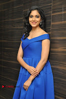 Actress Ritu Varma Pos in Blue Short Dress at Keshava Telugu Movie Audio Launch .COM 0026.jpg