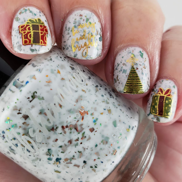 kbshimmer, clear jelly stamper, christmas nail art