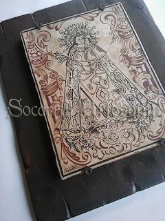 Socarrat extraído de un antiguo diseño valenciano.Socarrat Artesanía