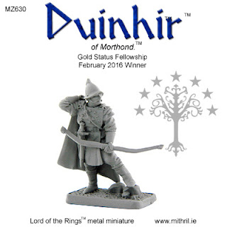 MZ630 Duinhir of Morthond - First 3D digitally designed Mithril figure.