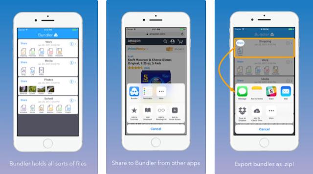طريقة إنشاء ملف مضغوط من خلال هاتفك ايفون أو ايباد