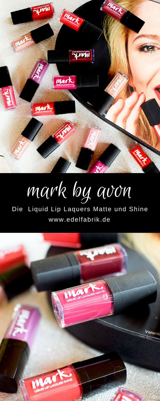 alle Farben der neuen mark by Avon Liquid Lip Laquers, Lipgloss matte
