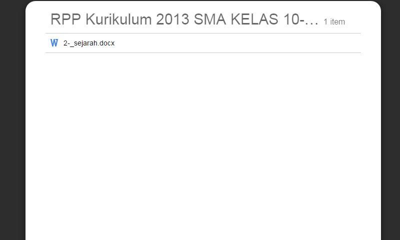 New Revisi Rpp Kurikulum 2013 SMA Kelas 10-11-12 Sejarah Update LengkapTerbaru