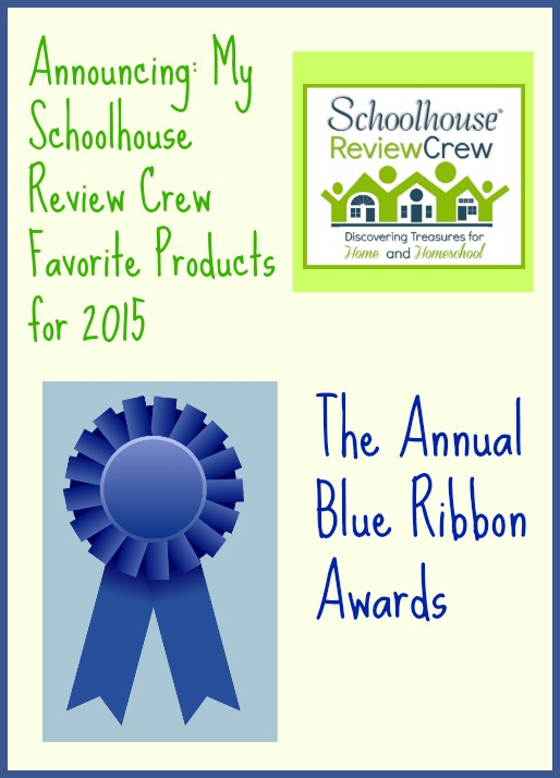 Favorite review choices from the Schoolhouse Review Crew products for 2015