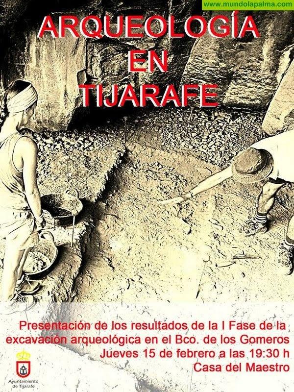 I Fase de la excavación arqueológica en el Bco. de los Gomeros