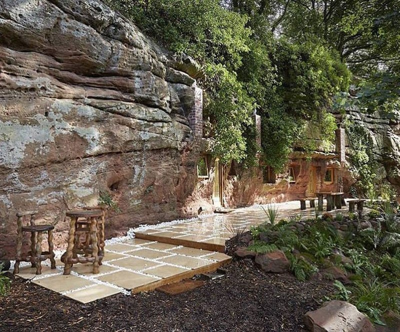 He moved all the rubble by hand (about 70-80 tons), and made sure that fresh running water is piped into the space from a bore hole. - He Turned A 700 Year-Old Cave Into A Dream Home… Wait Till You See The Kitchen.