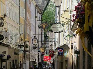 Getreidegasse Street  Salzburg Austria