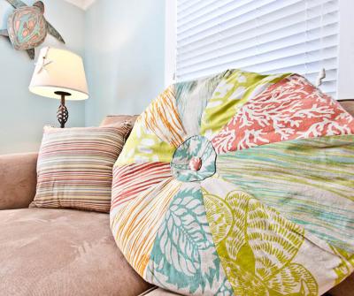 Beach Ball Pillow Fabric Scraps