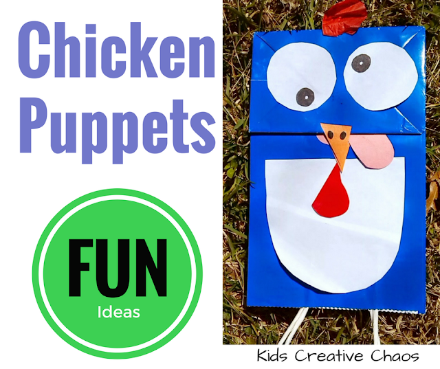 Make a Chicken Puppet and Chicken Craft Ideas