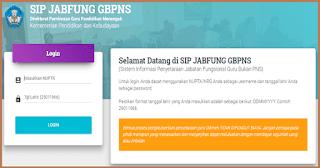 Cara Cek Status Penyetaraan GBPNS di Sistem Informasi Penyetaraan Guru Bukan PNS (SIP JABFUNG GBPNS)