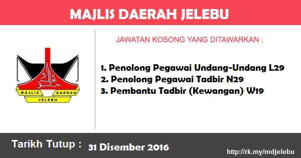 Jawatan Kosong di Majlis Daerah Jelebu