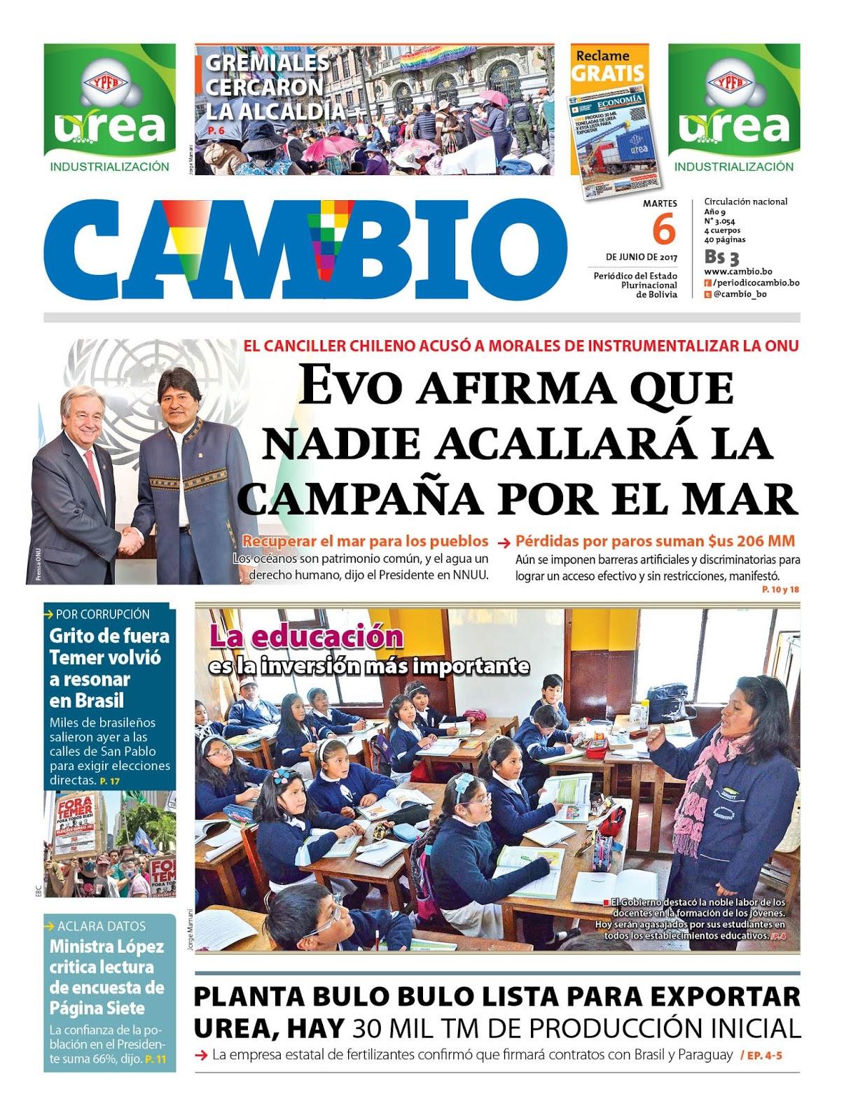 Periódicos estatales de Bolivia