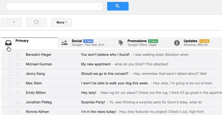 for tech, New interface for Gmail with its new inbox, gmail new inbox