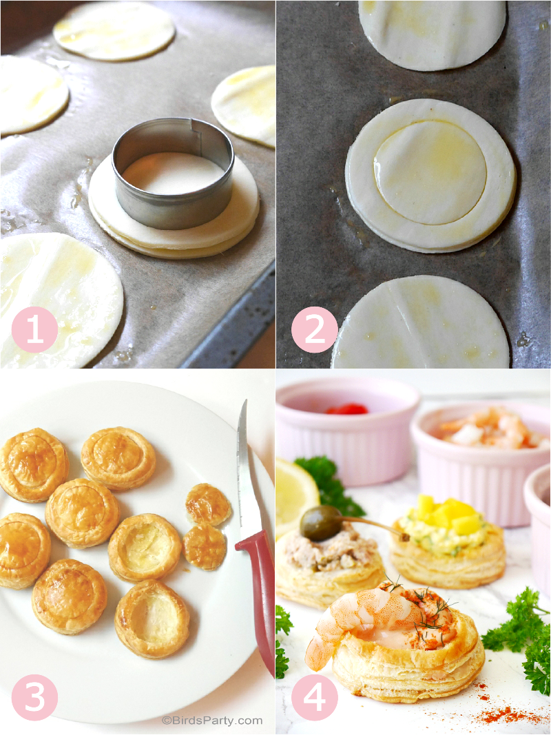 Retro Vol-au-Vent Party Appetizers Recipes - BirdsParty.com