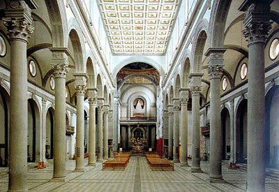 Ms clases de arte Brunelleschi Iglesia de San Lorenzo 141922