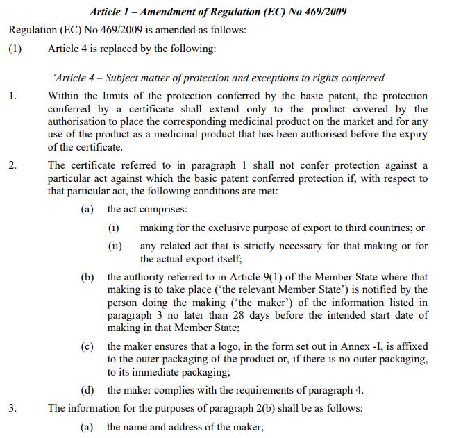 European Commission proposes Regulation to limit SPC
