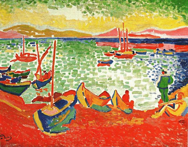 Andre Derain, Bateaux dans le Port de Collioure, 1905, oil on canvas, 72 x 91cm