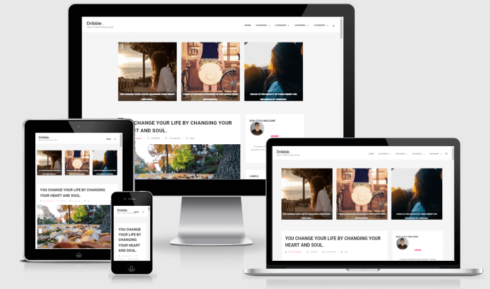 Dribble - Responsive Clean Blogger Template
