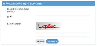 cara aktivasi EFIN untuk e-filing di DJP online
