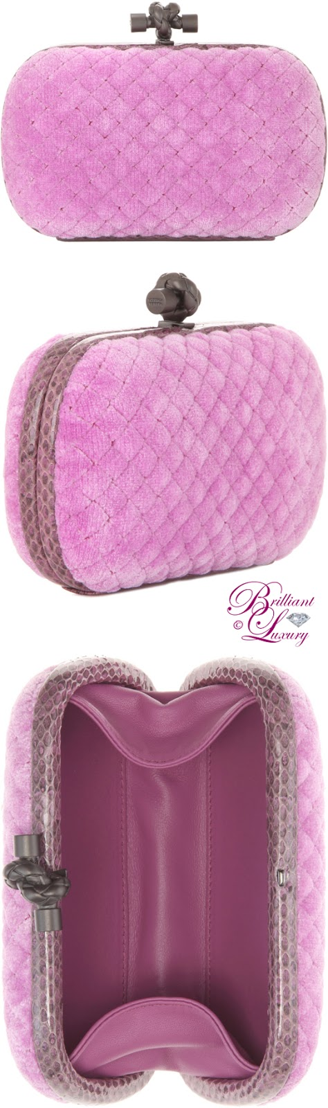 Brilliant Luxury ♦ Bottega Veneta Knot Cotton-Blend And Snakeskin Clutch