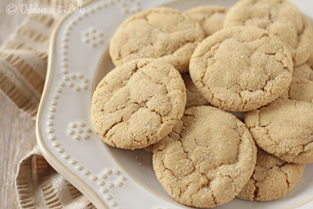 Low-FODMAP Soft & Chewy Ginger Cookies  /  Delicious as it Looks