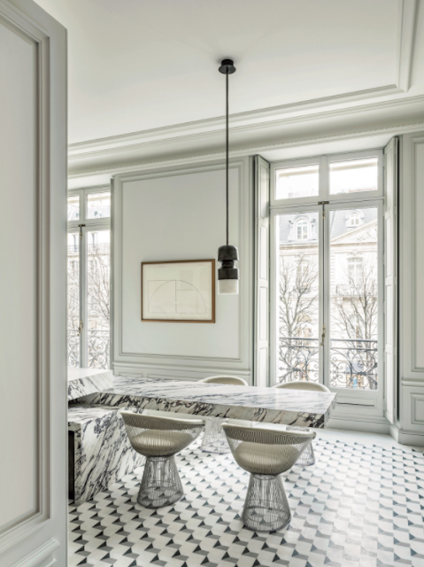 Luxurious palatial Paris apartment renovation by Joseph Dirand on Montaigne Avenue