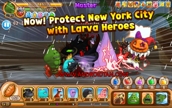 Larva Heroes Mod Apk for Android