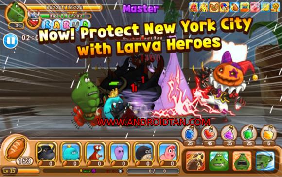 terbaru kepada kalian semua sehingga kalian sanggup mempunyai beraneka macam game yang selal Larva Heroes Mod Apk Battle 2 v1.9.7 Unlimited Gold/Candy Terbaru