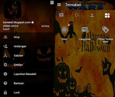 BBM MOD v3.0.1.25 Ghost Day Halloween  APK Upgrade