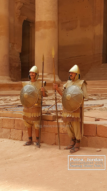 Guards at Petra Jordan