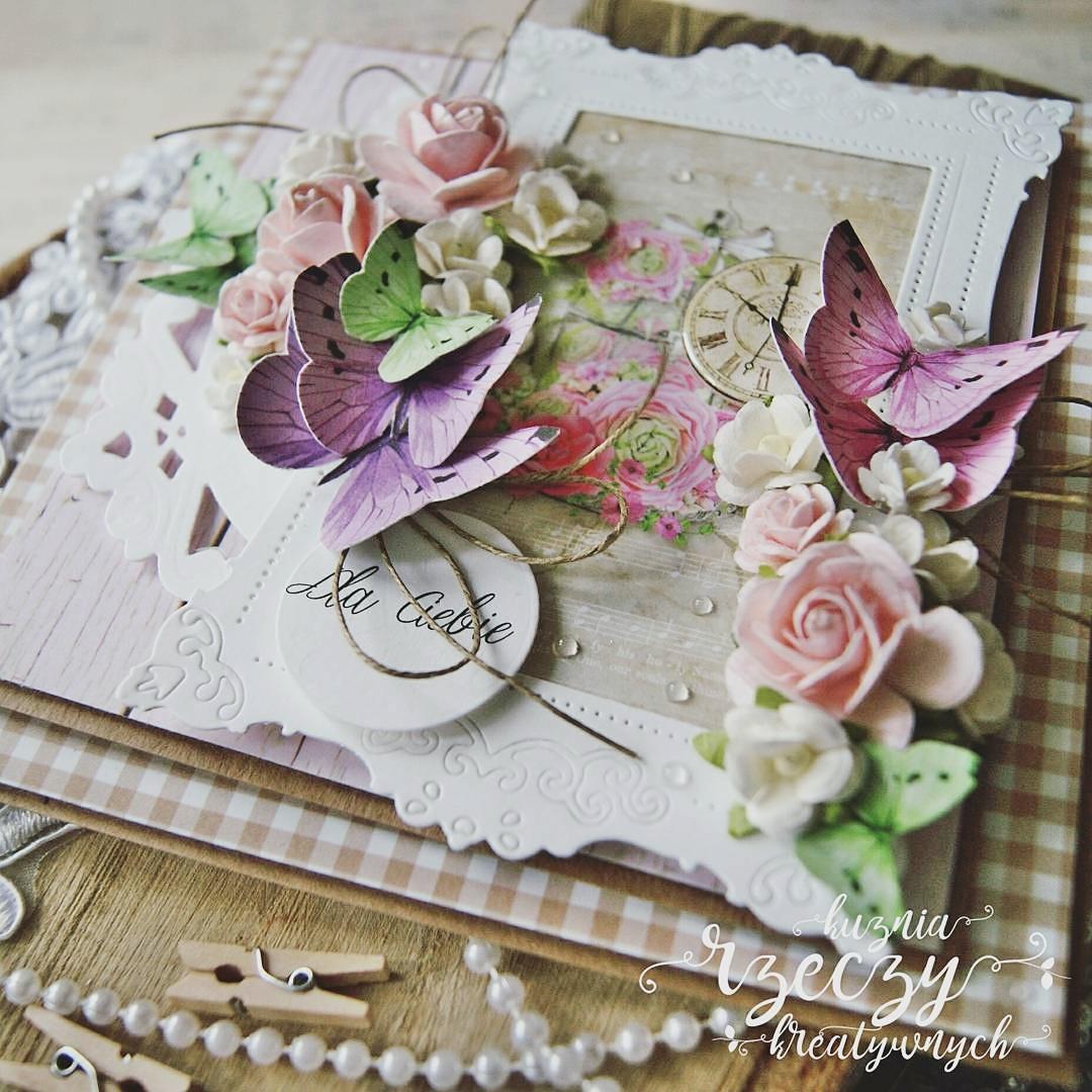 Kreatywna, romantyczna kartka z okazji Walentynek lub dla najbliższej przyjaciółki czy ukochanej mamy.