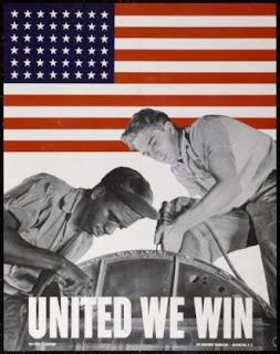 Προπαγανδιστική αφίσα που καλούσε τους  εργάτες στον πόλεμο, ανεξαρτήτως χρώματος