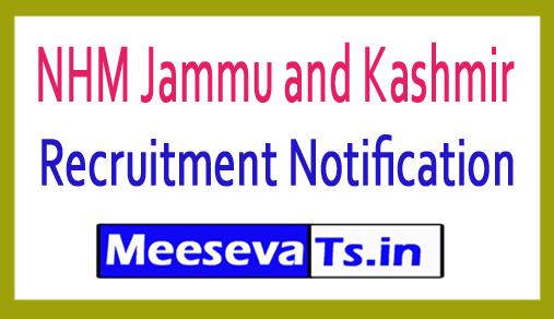 NHM Jammu and Kashmir Recruitment