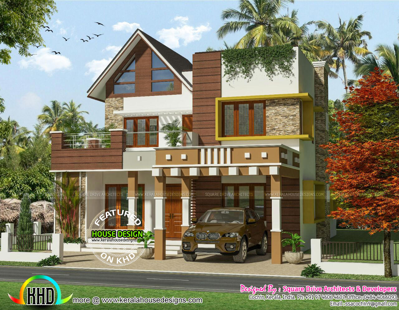 Modern 2069 square feet house home design decor Modern square house