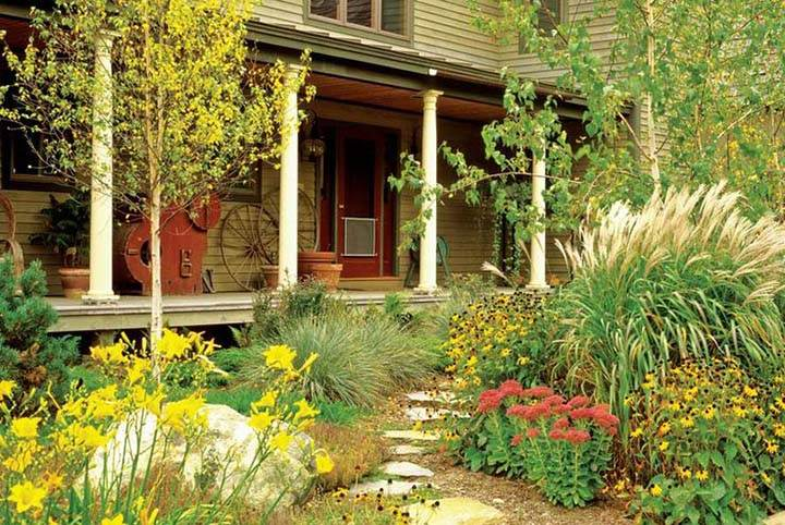 sonbahar resimlerinde ev manzaraları