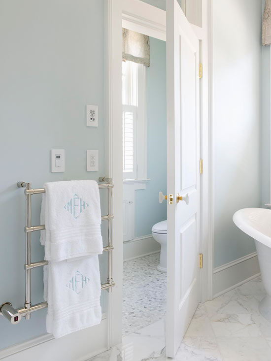 Monogrammed Floor Mats >> To da loos: French inspired Master bathroom