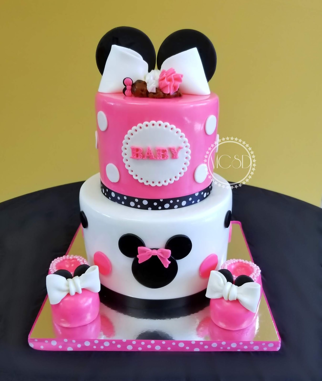 My Cake Sweet Dreams Minnie Mouse Baby Shower Cake
