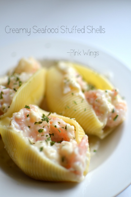 Creamy Seafood Stuffed Shells