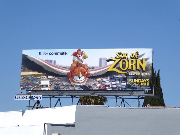 Son of Zorn series premiere billboard