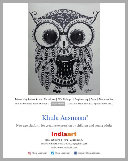 Artwork by Antara Chowkase at Khula Aasmaan exhibition (www.indiaart.com)