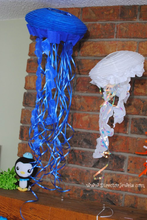 DIY Jellyfish Octonauts Birthday Party Decoration Ideas | Under the Sea Ocean Decor at directorjewels.com