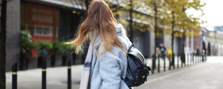 fluffy oversized coat